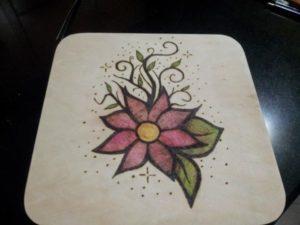 Read more about the article Scatola in legno pirografata e dipinta a mano