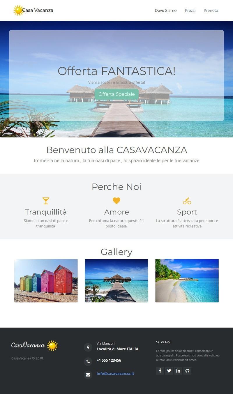 Bootstrap – Template Sito Casa Vacanza